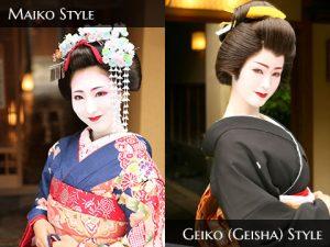 Kết quả hình ảnh cho maiko and geisha difference
