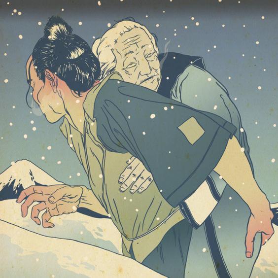 """Phong tục """"Cõng mẹ lên núi rồi bỏ mặc tới chết""""- dư âm của một nước Nhật trong thời kỳ đen tối."""