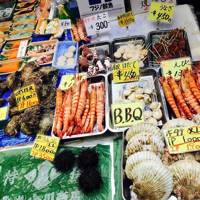 Muôn màu muôn vẻ ẩm thực hải sản Nhật