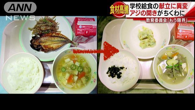 """Bức xúc về thực trạng bữa trưa của học sinh tiểu học Nhật Bản ngày càng bị """"cắt xén"""""""