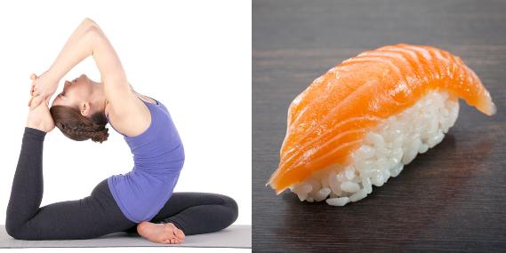 Bộ ảnh độc đáo về sự kết hợp giữa Sushi và Yoga