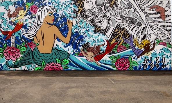Nữ nghệ sĩ Nhật chống lại nạn xâm hại phụ nữ bằng những bức tranh tường táo bạo