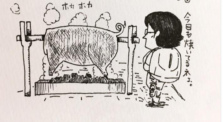 """Nhật ký tranh: """"Trên đường đi làm"""" của anh chàng Nhật mặc áo cờ đỏ sao vàng """"đốn tim"""" Fan Việt"""