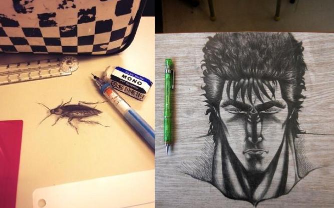 Kiếm đâu xa, trường học Nhật đầy rẫy thiên tài – Vẽ bậy trên bàn liệu có cần đẹp thần sầu như thế