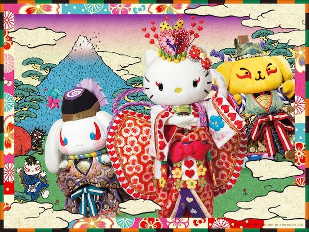 """Hello Kitty hóa thân thành Momotaro – Vở kịch Kabuki hoành tráng nhất của """"nàng mèo"""" siêu dễ thương"""