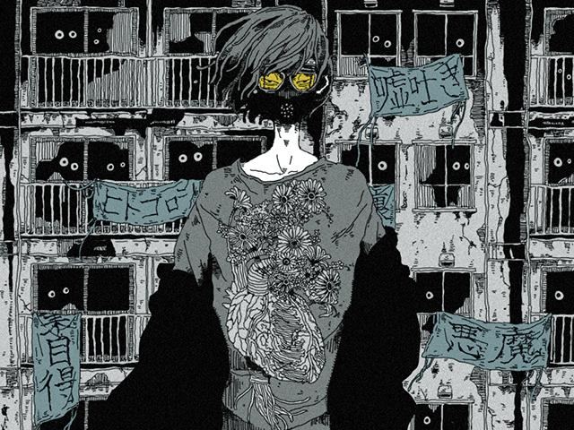 """Hình dung thế giới """"nửa thật nửa ảo"""", người và quái vật sống chung qua tranh minh họa của họa sĩ người Nhật"""