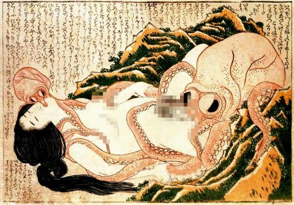 """Từ bức tranh """"Làm tình với bạch tuộc"""" – hiểu được tư duy nghệ thuật tinh tế của người Nhật"""