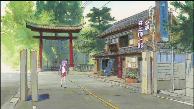 Cổng Torii tại ngôi đền có trong bộ Anime Lucky Star bỗng nhiên sụp đổ
