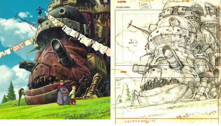 Tiết lộ bản phác thảo nguyên sơ của các tác phẩm nhà Ghibli – Sự thật đằng sau những thước phim màu nhiệm