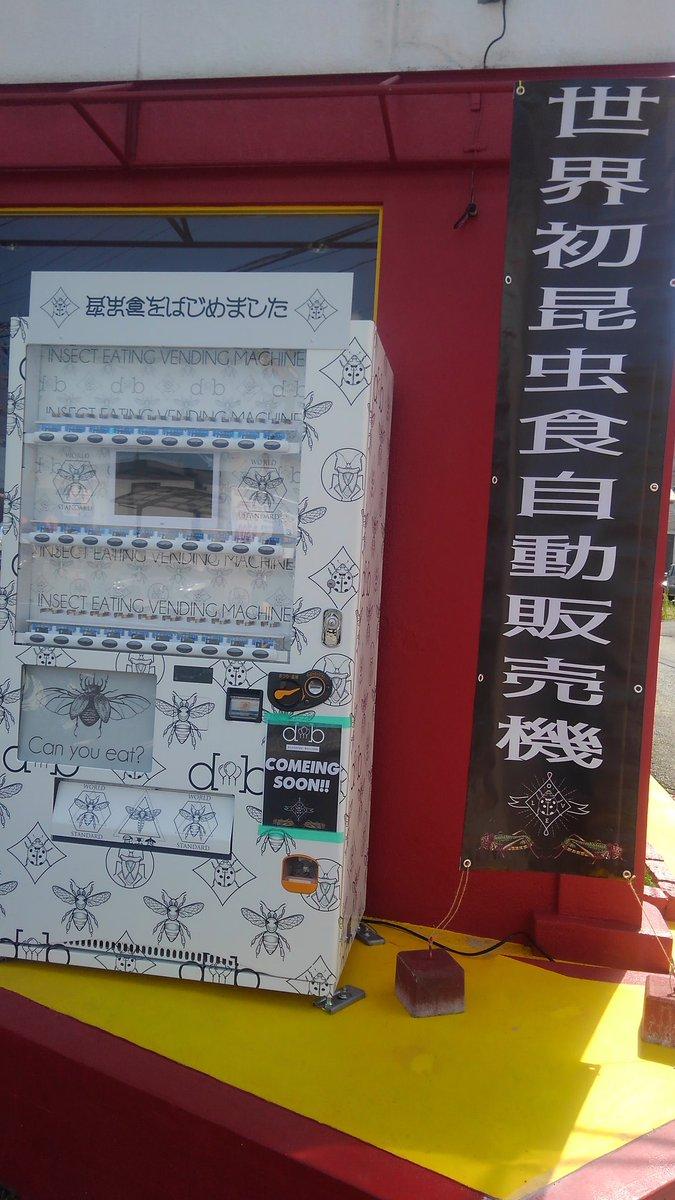[Phát hiện mới ở Nhật] Máy bán đồ ăn làm từ côn trùng đầu tiên trên thế giới?