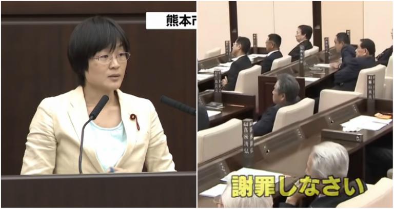 Thành viên nữ của hội đồng Nhật Bản bị đuổi ra khỏi hội đồng chỉ vì ……ngậm kẹo ho