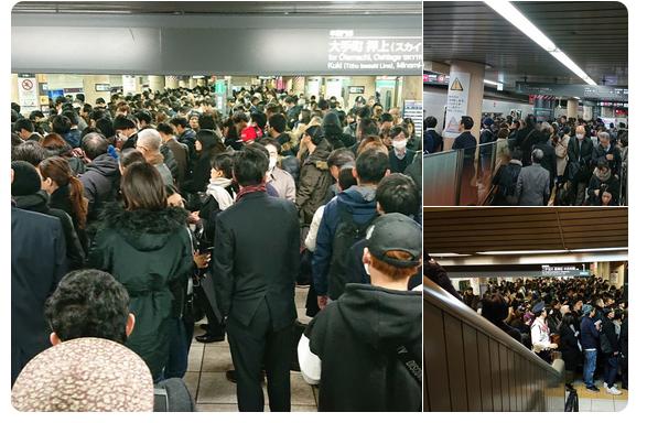 Hỗn loạn xảy ra tại ga Shibuya sau khi một cửa kính bị vỡ trên tàu