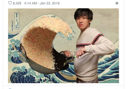 Bức ảnh Sóng Lừng phiên bản cơm chiên chưa kịp chìm, cư dân mạng lại đua nhau chế Meme