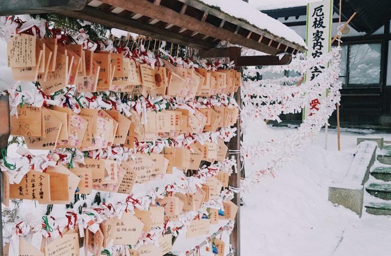 Lễ viếng đền đầu năm của du học sinh tại Asahikawa, Hokkaido