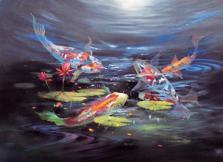 Chào mừng bạn đến với mê đạo của những chú cá Koi Nhật Bản – tuyệt tác nghệ thuật chuyển động trên nước