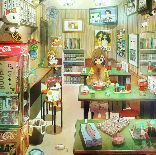 Chùm ảnh Mèo, quán Cafe và những kỷ niệm cũ của hoạ sĩ người Nhật giúp xua tan mệt mỏi cho những ngày cô đơn