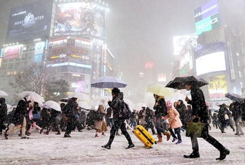 Thời tiết Nhật Bản khắc nghiệt trong những ngày đầu năm mới 2019