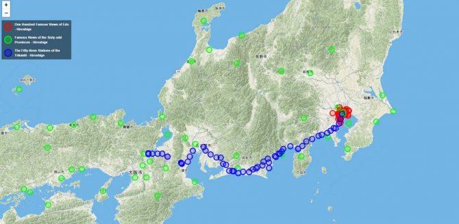 """Nhấp vào để trải nghiệm tấm bản đồ Nhật Bản có một không hai có khả năng """"ngược về quá khứ"""""""