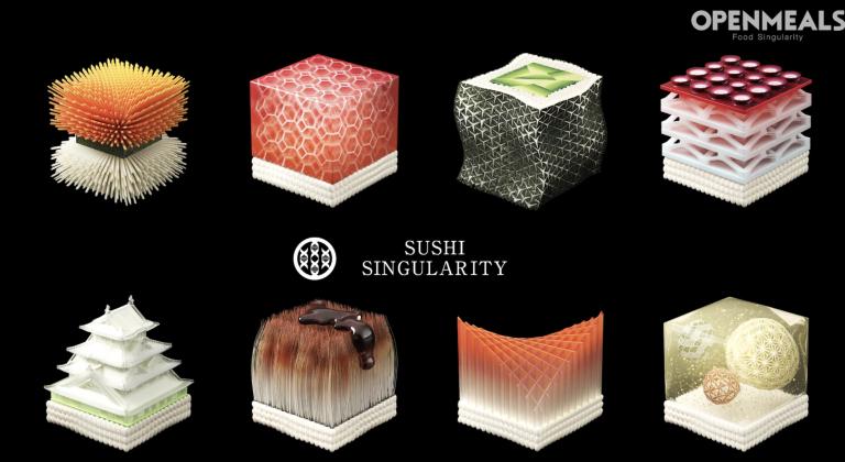 Mô hình cửa hàng Sushi năm 2020- mùi vị không biết ra sao, nhìn kênh hình là hết muốn ăn rồi