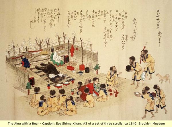 Tục lệ sát hại Gấu của người Ainu, cũng chính là vị thần được họ tôn thờ