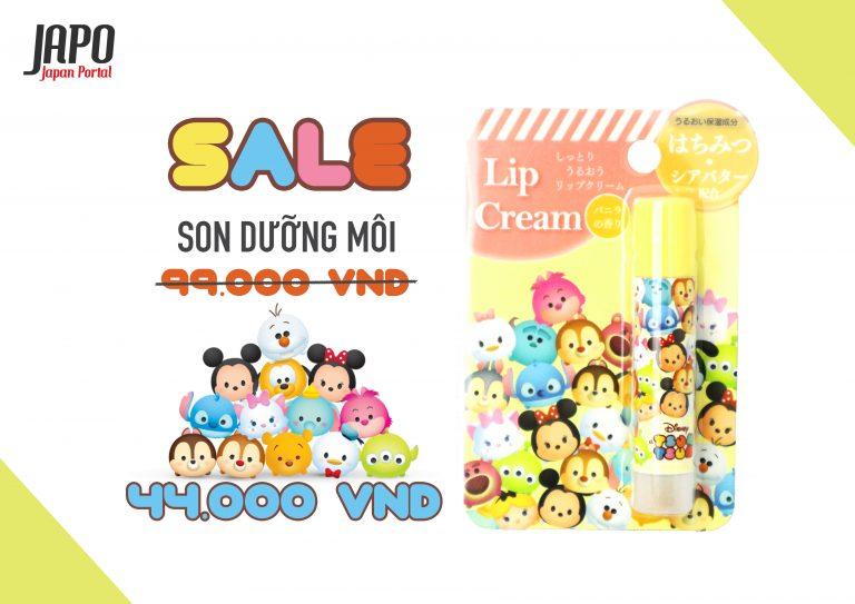 [HOT DEAL 15/5]  Son dưỡng môi hương Vanilla hoạ tiết Tsum Tsum của Disney