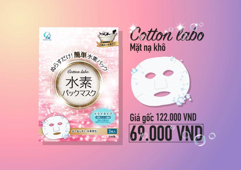 [HOT DEAL 27/6/2019] Mặt nạ khô Cotton Labo