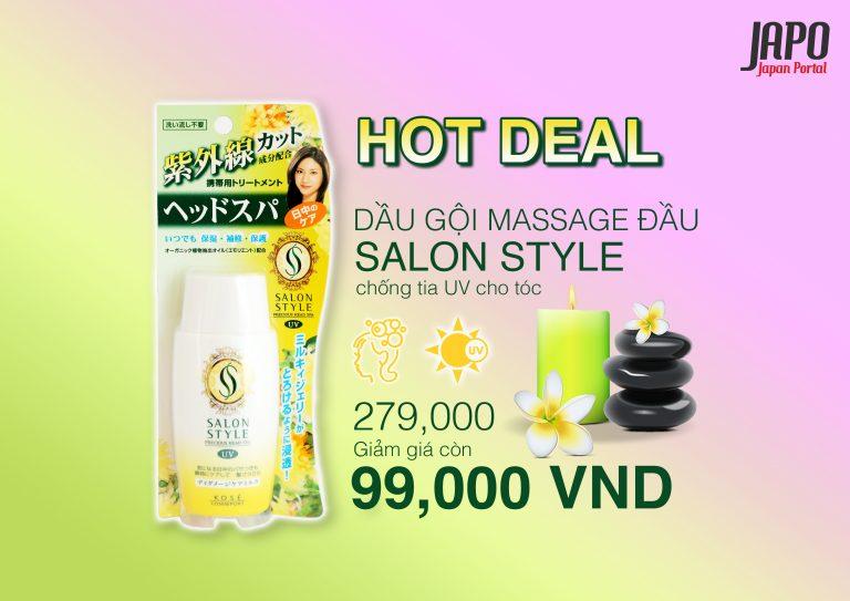 [HOT DEAL 16/7] Kem dưỡng tóc SALON STYLE – KOSE (có thành phần chống UV)