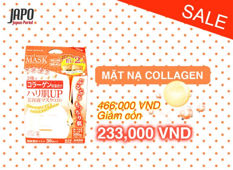 [HOT DEAL 22/8] Mặt nạ Collagen Japan Gals 30 miếng