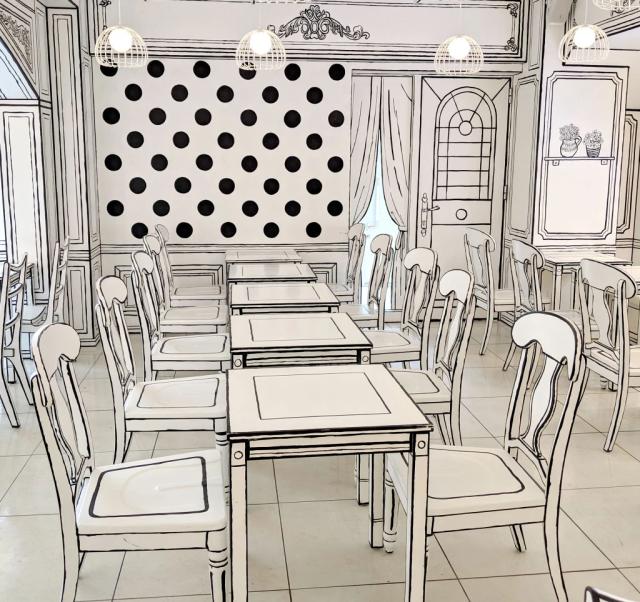 """Đây không phải là tranh vẽ đâu, mà là quán Cafe đem lại cho bạn cảm giác """"2D"""" chưa bao giờ chân thực hơn"""