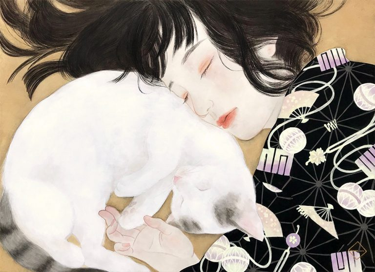 Tranh đương đại của Kazuho Imaoka – Mèo và Phụ nữ