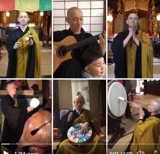 Thưởng thức Video âm nhạc độc đáo mùa cách ly của nhà Sư Nhật Bản