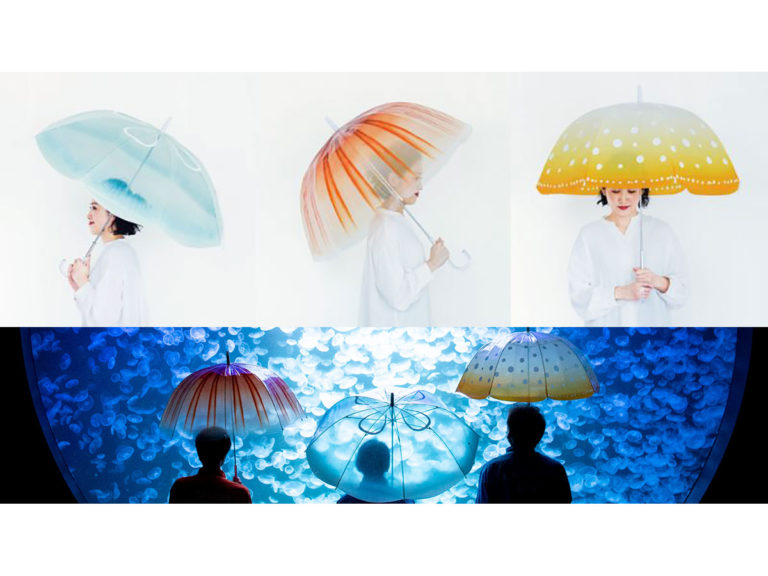 Biến bầu trời đầy mưa thành đại dương huyền bí cùng những chiếc ô con sứa