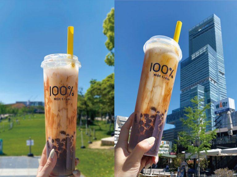 """Trà sữa 100 thương hiệu Việt Nam với chiều cao ly khủng """"đại náo"""" Osaka"""