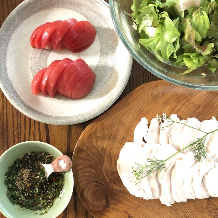 Kyoko's cooking: Ức gà hấp rưới sốt gừng và rau ngò