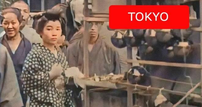 Đoạn phim màu tái hiện hình ảnh nước Nhật năm 1913