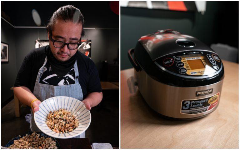 Xem đầu bếp Michelin chế biến món Donabe Gohan (cơm niêu) bằng nồi cơm điện