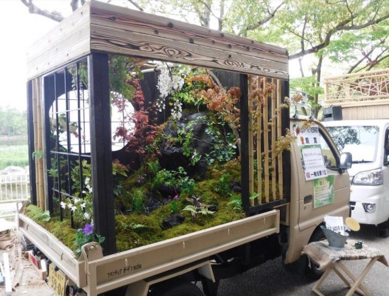 """Cuộc thi thiết kế vườn """"Kei-tora"""" trên xe tải nhỏ ở Nhật Bản"""