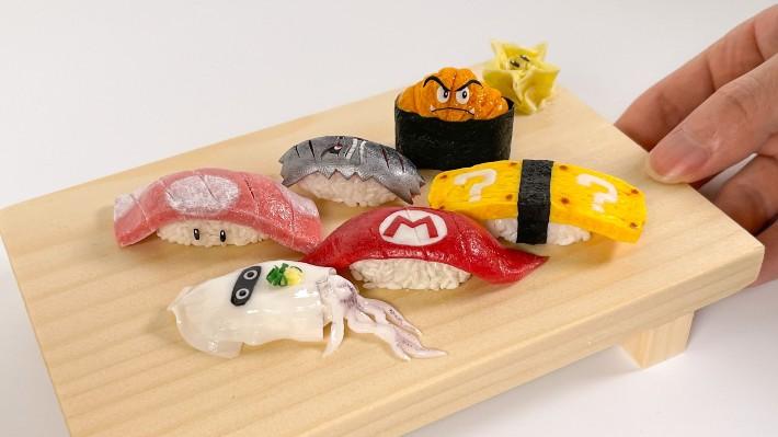 Nghệ sĩ Nhật Bản sử dụng đất sét để tạo ra set Sushi Super Mario