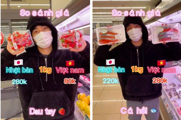 Đoạn Clip so sánh giá thức ăn ở Nhật và Việt Nam gây tranh cãi
