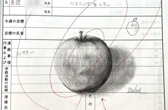 """Nghệ sĩ đăng Tweet cảm ơn giáo viên chủ nhiệm đã khen ngợi """"tranh vẽ bậy"""" trong sổ ghi chú của mình hồi cấp 3"""