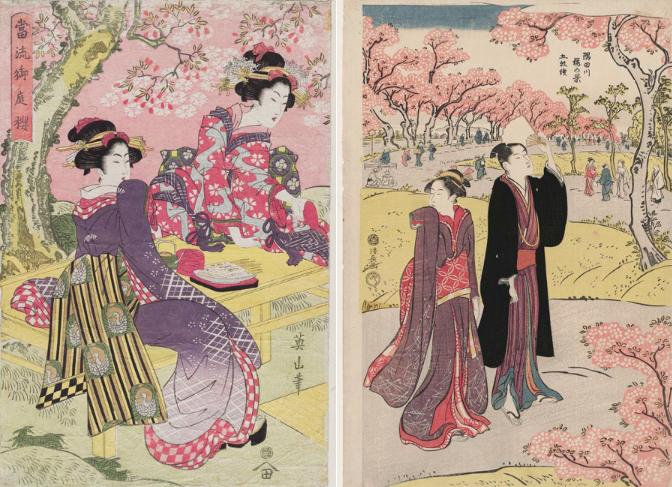 Những bức tranh thưởng hoa Anh Đào của người Nhật xưa qua các thời đại