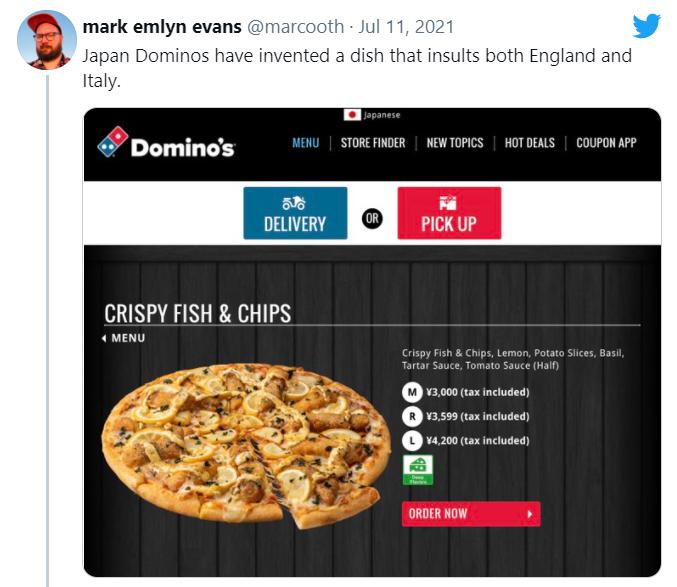 """Bị """"tố"""" xúc phạm ẩm thực Anh và Ý, Domino Pizza Nhật Bản """"trả lời"""" bằng cách tặng Pizza miễn phí"""