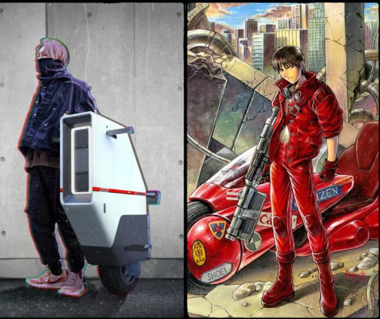 Thiết kế xe điện Honda Baiku có một bánh tự cân bằng, lấy cảm hứng từ phim hoạt hình viễn tưởng Akira