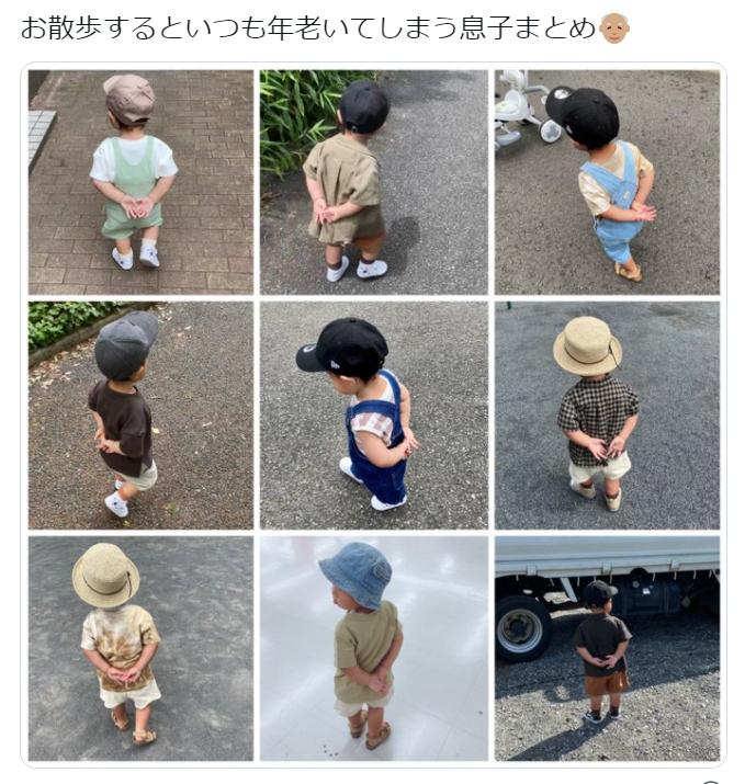Cậu bé Nhật Bản hết sức đáng yêu, nổi tiếng vì mới chập chững đã đi như ông già