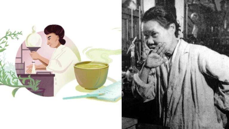 """Google Doodle ngày 17/9 tôn vinh """"bà tổ Michiyo Tsujimura"""" – người phụ nữ Nhật Bản có nghiên cứu đột phá về trà xanh."""